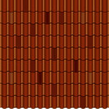 Red corrugated tile element of roof. Seamless Royalty Free Stock Photos