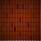Red corrugated tile element of roof. Seamless Stock Photo