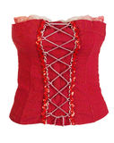 Red Corset Female Stock Image