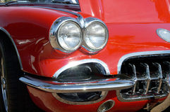 Red Corvette Stock Image