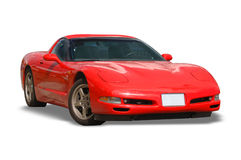 Red Corvette Car Royalty Free Stock Image