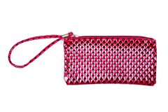 Red Cosmetic Bag On White Background Royalty Free Stock Image