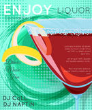 Red cosmopolitan cocktail in martini glass on grunge green circle close up. Cocktail illustration on bright contemporary flat background. Design for cocktail vector illustration