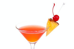 Red Cosmopolitan cocktail with vodka Royalty Free Stock Image