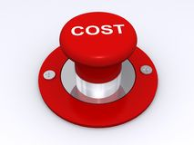 Red cost button Royalty Free Stock Images