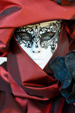 Red costumed masked woman portrait Royalty Free Stock Photo