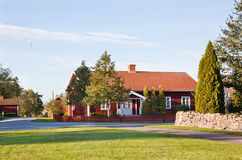 Red cottage. Stock Photography