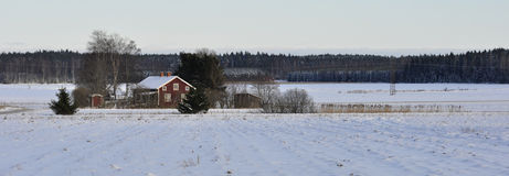 Red cottage Stock Photography