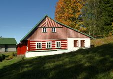 Red cottage Royalty Free Stock Photos