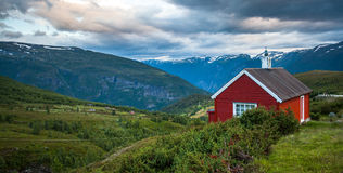 Red cottage Royalty Free Stock Photo