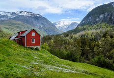 Red cottage. Royalty Free Stock Photography