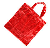 Red cotton bag Stock Photo