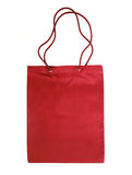 Red cotton bag Royalty Free Stock Images
