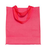 Red cotton bag isolated on white Royalty Free Stock Photography