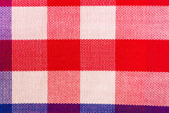 Red cotton cloth in checked Royalty Free Stock Photography