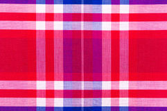Red cotton cloth in checked Royalty Free Stock Images