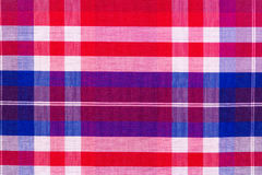 Red cotton cloth in checked Stock Images