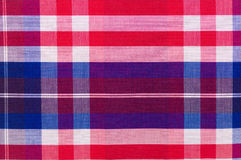 Red cotton cloth in checked Royalty Free Stock Photos
