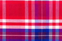 Red cotton cloth in checked Stock Photos
