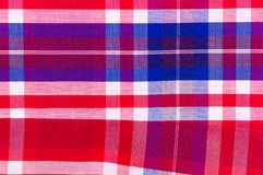 Red cotton cloth in checked Stock Photo