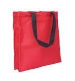 Red cotton eco bag Stock Photo