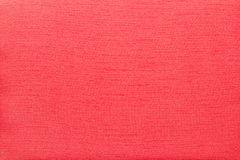 Red Cotton Fabric Closeup Stock Photography