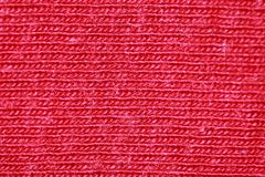 Red cotton fibres royalty free stock photo