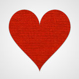 Red cotton heart Stock Photos