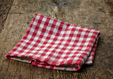 Red cotton napkin Royalty Free Stock Photography