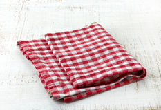 Red cotton napkin Stock Photography