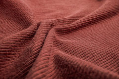 Red cotton ribbed fabric Royalty Free Stock Photos