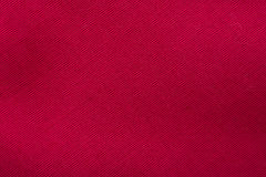 Red Cotton Texture Macro Stock Photo