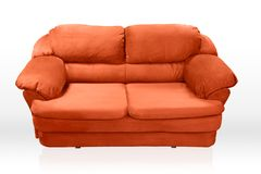 Red couch Stock Image