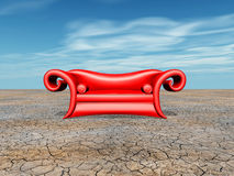 Red Couch Stock Photography