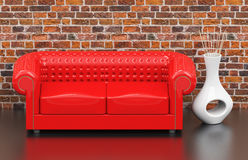 The red couch Stock Images