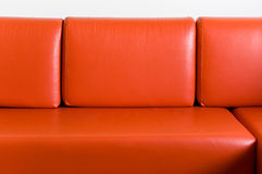 Red couch. At home waiting to sit on it Royalty Free Stock Photo