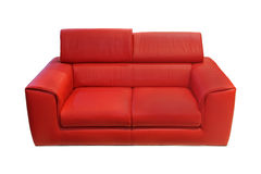 Red couch Royalty Free Stock Images