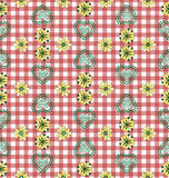 Red Country Style Tablecloth Royalty Free Stock Images