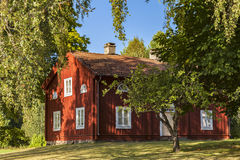 Red countryside cottage Royalty Free Stock Images