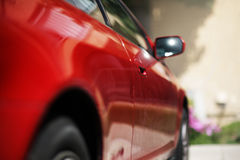Red coupe Stock Photography