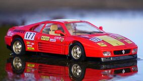 Red Coupe Car Toy royalty free stock photography