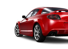 Red coupe - rear angle Royalty Free Stock Photography