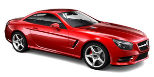 Red coupe Royalty Free Stock Image