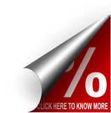 Red coupon button Royalty Free Stock Images