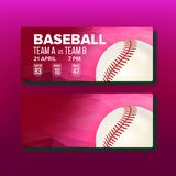 Red Coupon For Visit Baseball Game Template Vector royalty free illustration