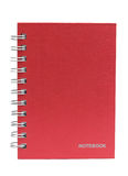 The red cove Note book Stock Image