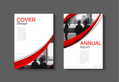 Red cover abstract modern  cover book Brochure template, design, Royalty Free Stock Images