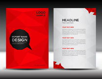 Red Cover Annual report design vector illustration Royalty Free Stock Photo