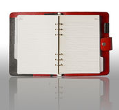 Red cover binder book Stock Photos