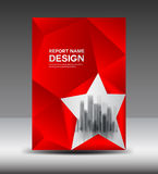 Red Cover design Annual report vector illustration, booklet Stock Photography